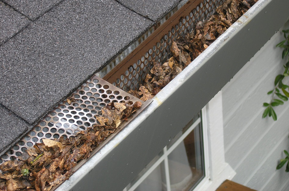 clean covered gutters with gutter guard